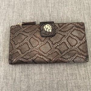 Tommy Bahama Snakeskin Clutch Wallet